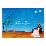 A Fall (in Love) Story Thank You Wedding Greeting Cards