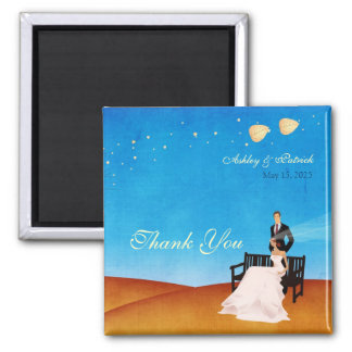 A Fall (in Love) Story Wedding Magnet