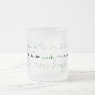 A fall in the woods 10 oz frosted glass coffee mug