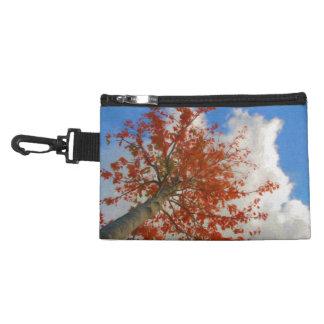 A Fall Tree with Vibrant Orange Leaves & Blue Sky Accessory Bag