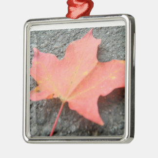 A Fallen Leaf Metal Ornament