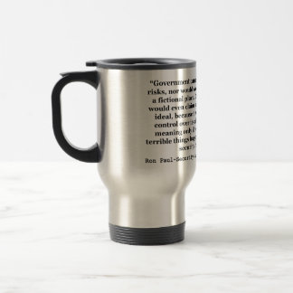 A False Government Security Blanket Quote Ron Paul Travel Mug