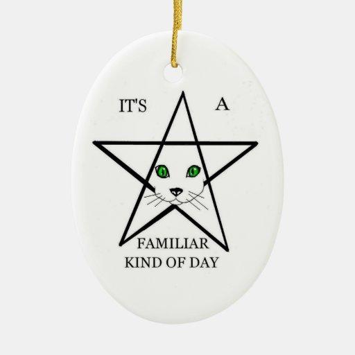 A familur day ceramic ornament