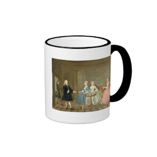 A Family Being Served with Tea, c.1740-45 (oil on Ringer Coffee Mug