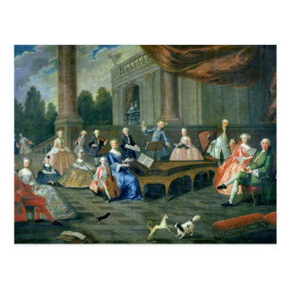 A Family Concert at Chateau Renescure Postcard