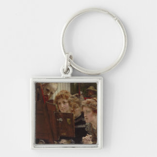 A Family Group, 1896 (oil on panel) Keychain