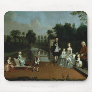 A Family Group on a Terrace in a Garden, 1749 Mouse Pad