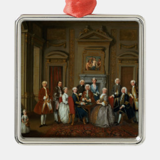 A Family in a Palladian Interior , 1740 Metal Ornament