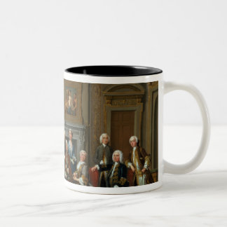 A Family in a Palladian Interior , 1740 Two-Tone Coffee Mug