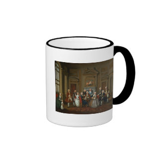 A Family in a Palladian Interior , 1740 Ringer Coffee Mug