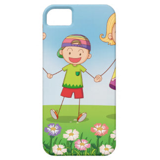 A family in the garden iPhone 5 covers