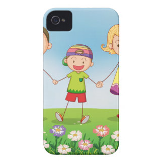 A family in the garden Case-Mate iPhone 4 cases