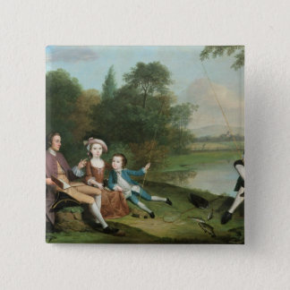 A family of Anglers, 1749 Pinback Button