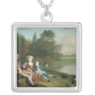 A family of Anglers, 1749 Silver Plated Necklace