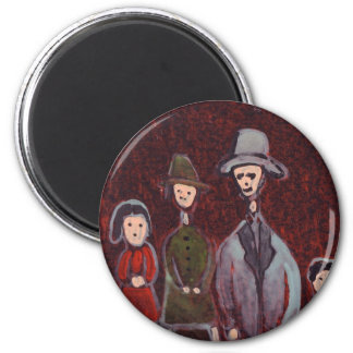 A family of four 2 inch round magnet