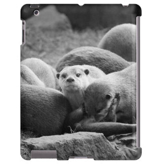 A family of otters iPad case