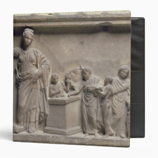 A family sacrificing a bull to Asclepius Binders