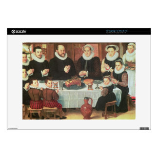 "A Family Saying Grace Before the Meal, 1585 (oil o Decal For 15"" Laptop"