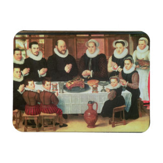 A Family Saying Grace Before the Meal, 1585 (oil o Magnet
