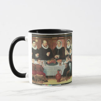 A Family Saying Grace Before the Meal, 1585 (oil o Mug