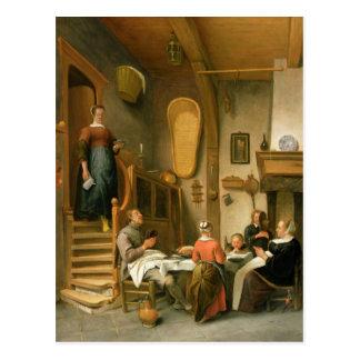 A Family Saying Grace Postcard