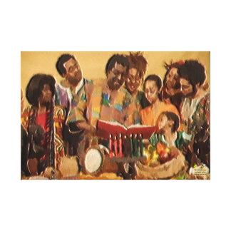 A Family's Kwanzaa Celebration Canvas Print