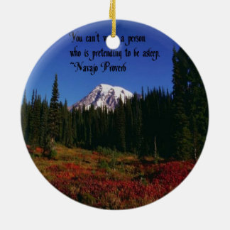 A Famous Navaho Quote Double-Sided Ceramic Round Christmas Ornament