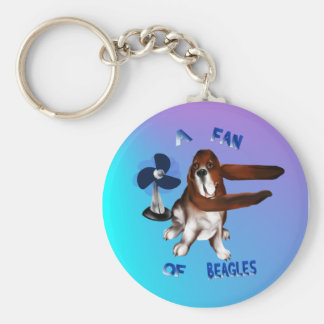 A Fan Of Beagles lettered Keychain
