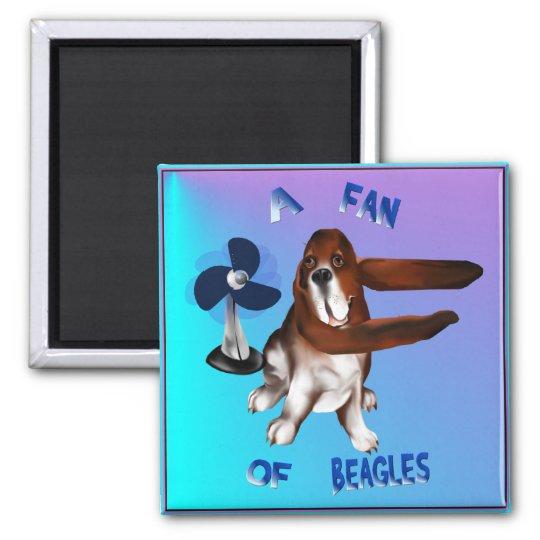 A Fan Of Beagles lettered Magnet