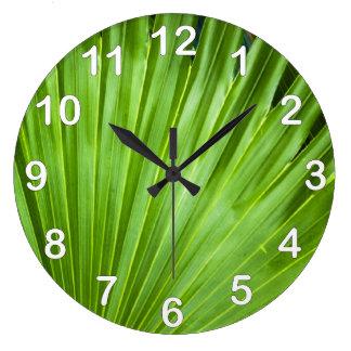 A Fan of Green Large Clock