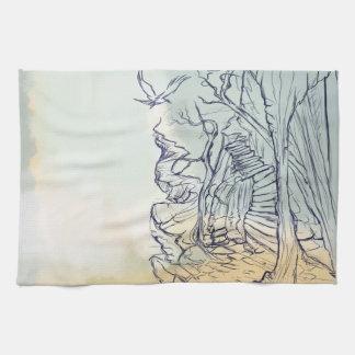 A fancy land sketchTowels Kitchen Towel
