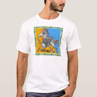 A fantasy ostrich bird with cool border T-Shirt