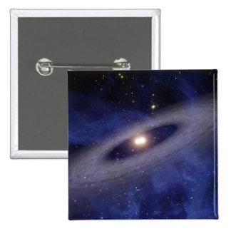 A faraway solar system 2 inch square button