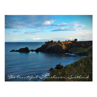 A faraway view of the magical Dunnottar castle Postcard