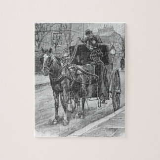 A Fare for a Hansom Cab Driver Jigsaw Puzzles