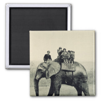 A Farewell Ride on Jumbo 2 Inch Square Magnet