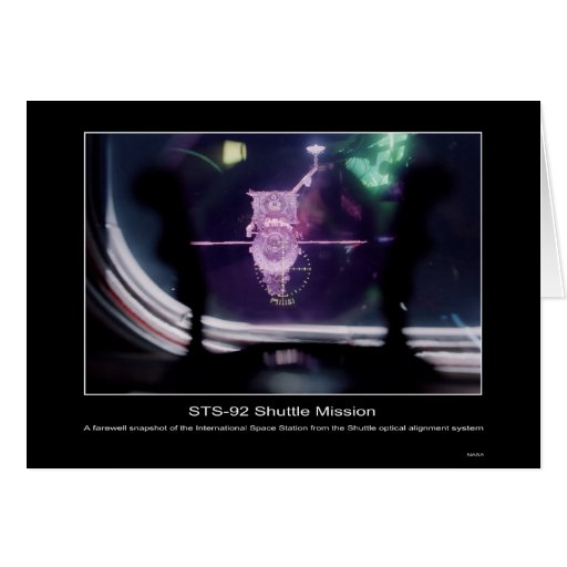 A farewell snapshot of the International Space Sta Greeting Card