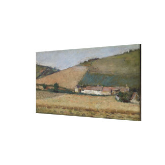A Farm Among Hills, Giverny, c.1887 Stretched Canvas Prints