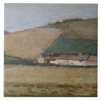 A Farm Among Hills, Giverny, c.1887 Ceramic Tile