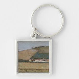 A Farm Among Hills, Giverny, c.1887 Key Chains