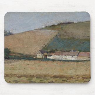 A Farm Among Hills, Giverny, c.1887 Mouse Pad