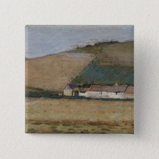 A Farm Among Hills, Giverny, c.1887 Pinback Button