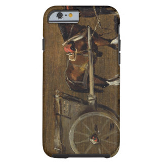 A Farm Cart with two Horses in Harness A Study fo iPhone 6 Case