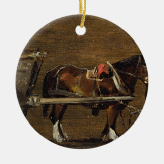 A Farm Cart with two Horses in Harness: A Study fo Ceramic Ornament