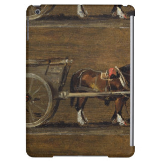 A Farm Cart with two Horses in Harness: A Study fo iPad Air Covers