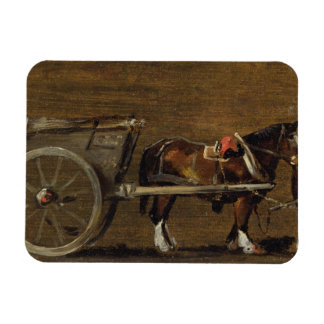 A Farm Cart with two Horses in Harness: A Study fo Magnet