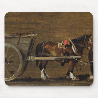 A Farm Cart with two Horses in Harness: A Study fo Mouse Pads