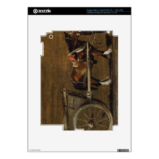 A Farm Cart with two Horses in Harness: A Study fo iPad 3 Decal