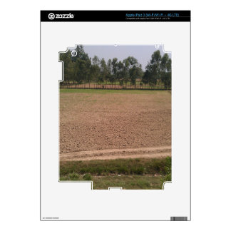 A farm field ready for planting of crops decals for iPad 3