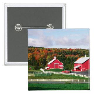 A farm in Vermont near Peacham. RELEASE 2 Inch Square Button
